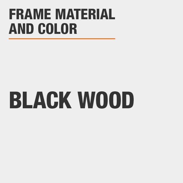 Bar Stool with Black Wood Frame