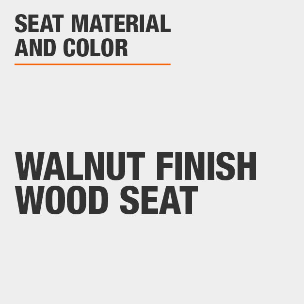 Collection with Walnut Finish Wood Seat