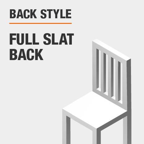 Back Style Full Slat Back