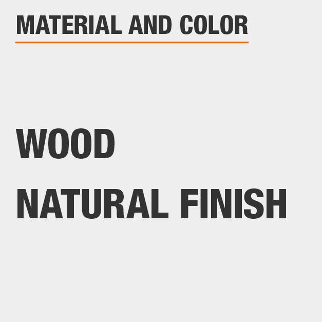 Natural Finish Wood Rectangular Dining Table