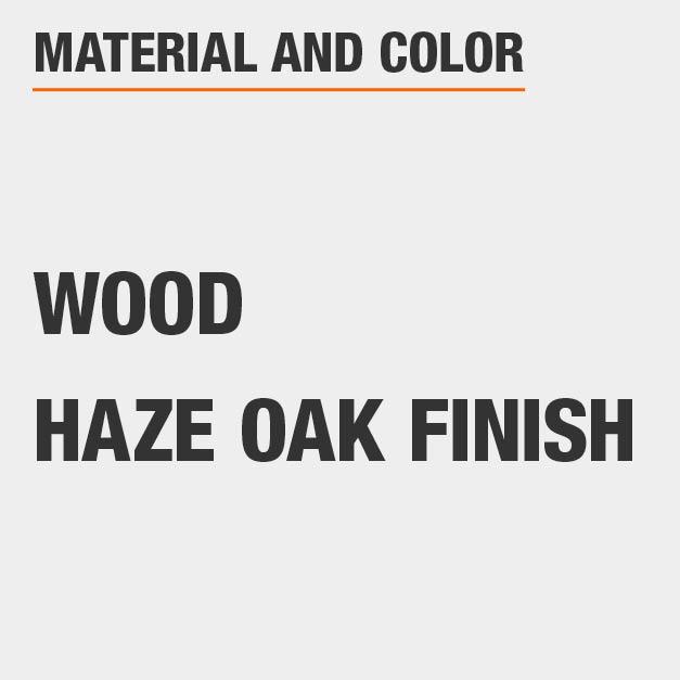 Haze Oak Finish Wood Square Dining Table