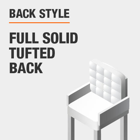 Back Style Full Solid Back