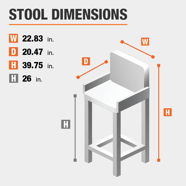 Upholstered Counter Stool Dimensions
