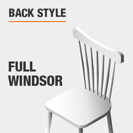 Dining Chair Set with Full Windsor
