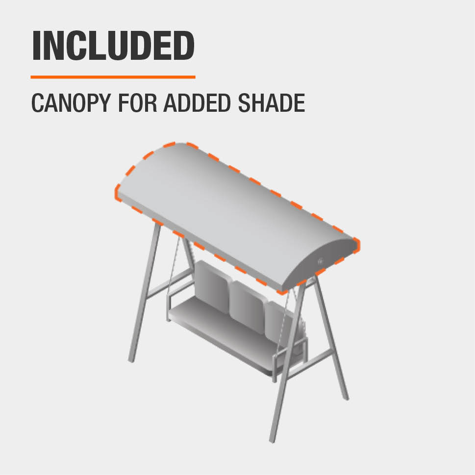 Included  Canopy for added shade