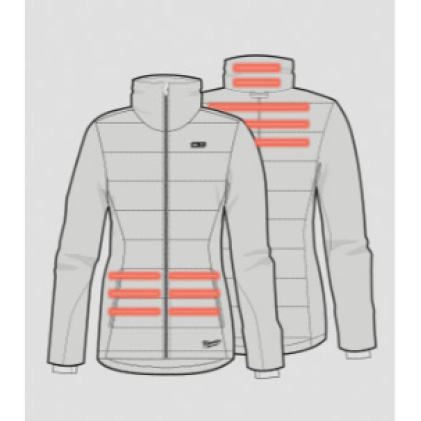 Heat On Demand with Back, Collar, and Pocket Heat Zones