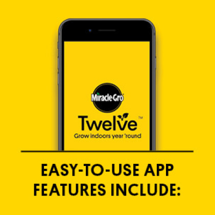 Mobile phone graphic with title: Easy-to-use App Features Include: