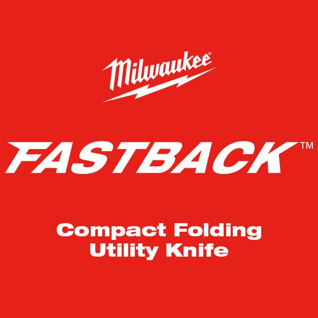 MILWAUKEE® FASTBACK™ Compact Folding Utility Knife