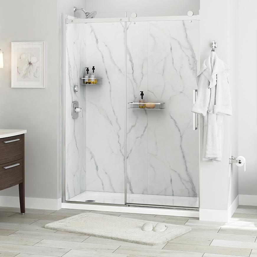 Passage Shower Walls Serene Marble