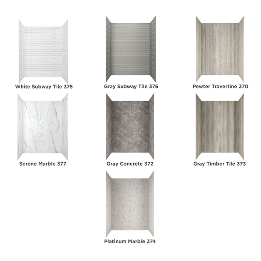 Passage Shower Wall Patterns and Finishes