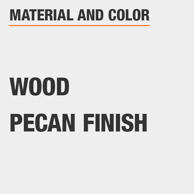 Pecan Finish Wood Rectangular Dining Table
