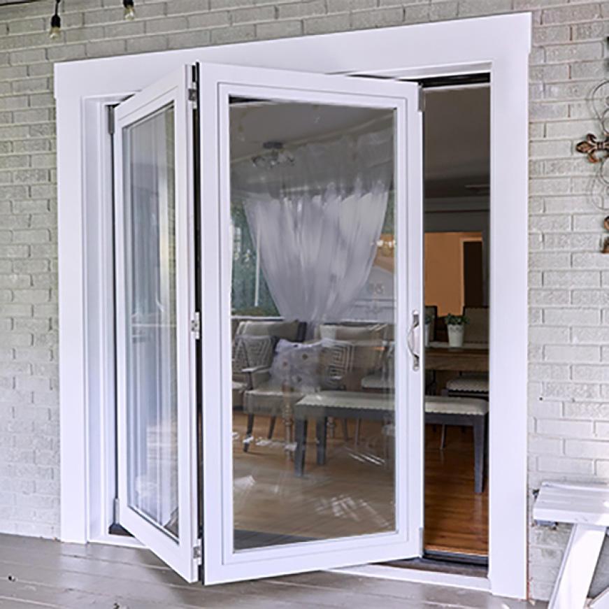 Jeld Wen 72 In X 80 In Primed Fiberglass Right Hand Full Lite F 2500 2 Panel Folding Patio Door Kit Thdjw235200002 The Home Depot