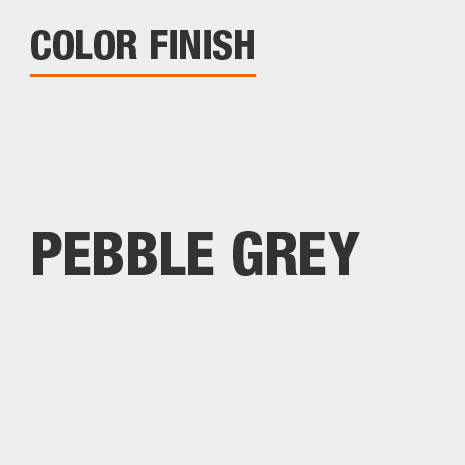 This bathroom vanity mirror color finish is Pebble Grey