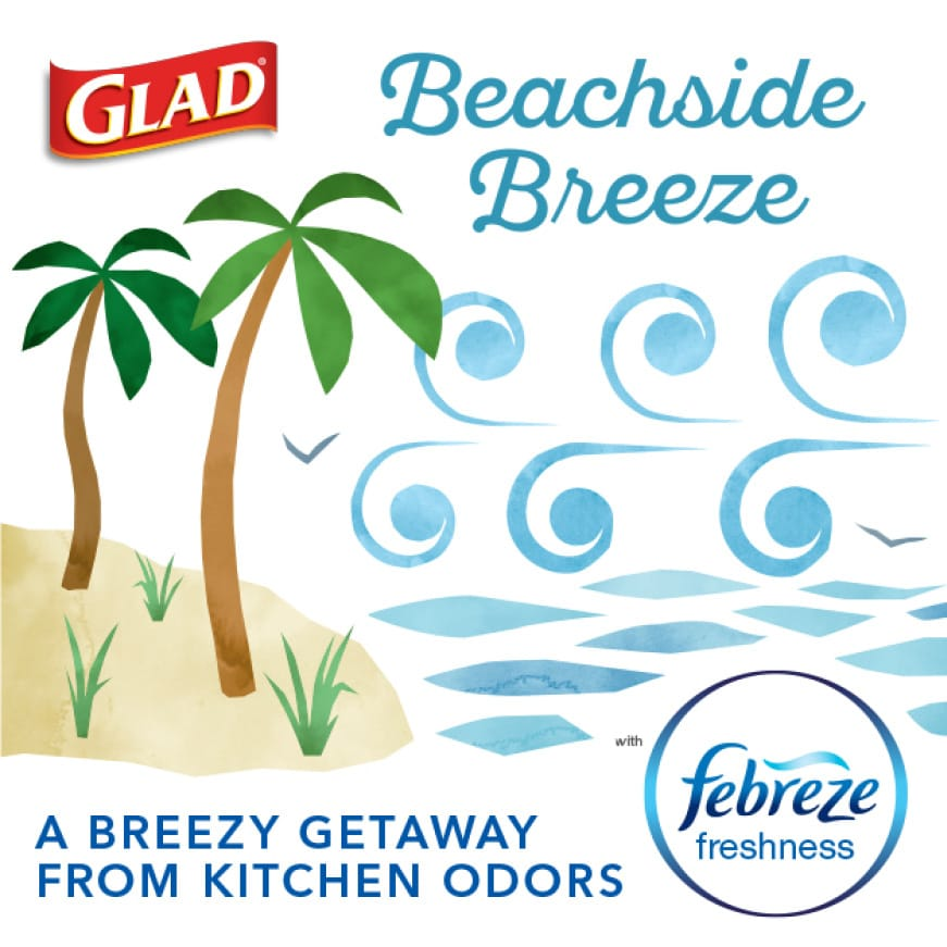 With a Beachside Breeze scent.