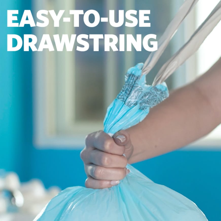 Easy to use drawstring.
