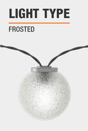 Hampton Bay 24-Light Cafe String Light-G40 Frosted