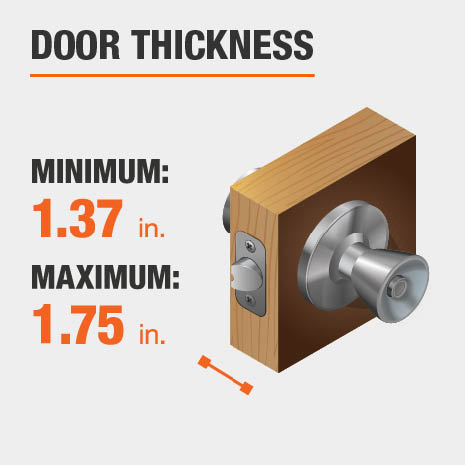 Door should be between 1.37 and 1.75 inches thick