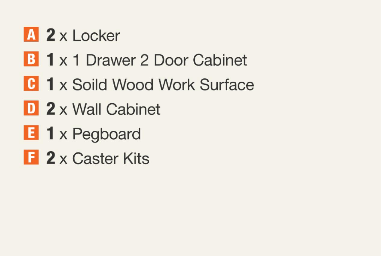 Garage Cabinet Components