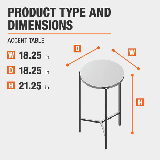 Accent Table Product Dimensions 18.25 inches wide 21.25 inches high