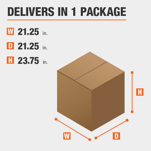 Package Dimensions 21.25 inches wide 23.75 inches high