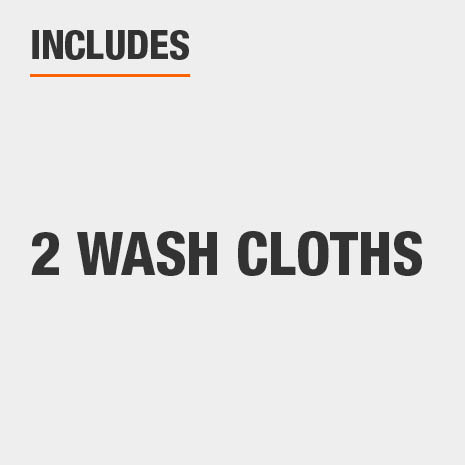 Set includes two wash cloths