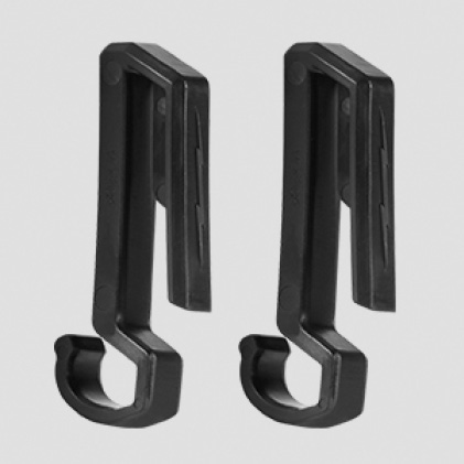 (2) Hard Hat clips included for secure attachment to hard hats.