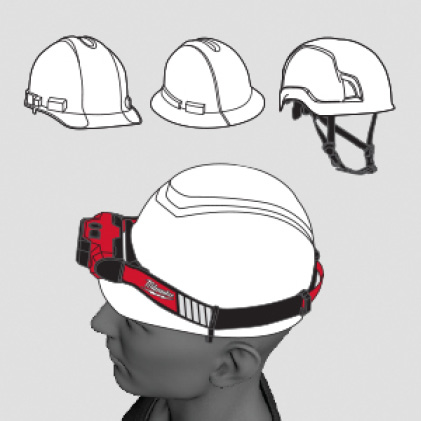 Designed to be worn with most hard hats