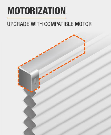 Upgrade cellular shade with compatible motor