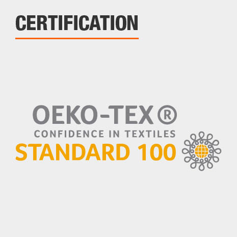 Towels are certified with STANDARD 100 by OEKO-TEX