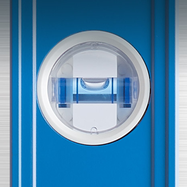 High contrast e-BAND vials highlight the edge of the bubble providing superior visibility