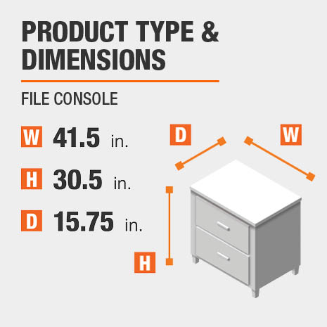 File Console Product Dimensions 41.5 inches wide 30.5 inches high
