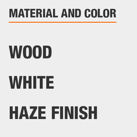 Haze Finish White Wood File Console