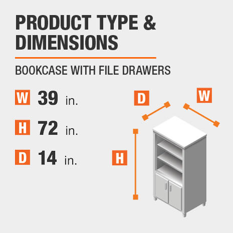 Bookcase with File Drawers Product Dimensions 39 inches wide 72 inches high