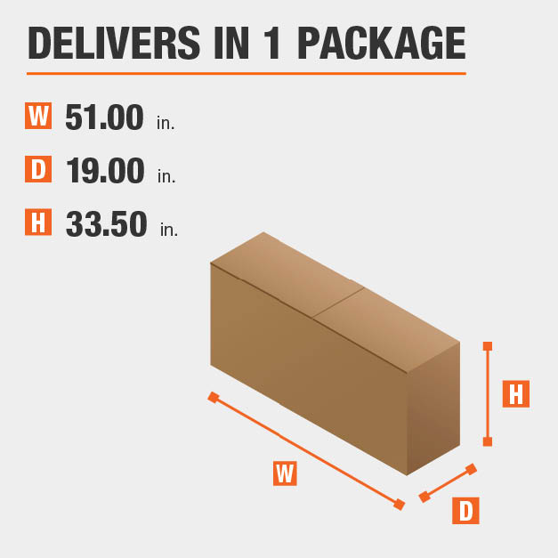 Package Dimensions 51 inches wide 33.5 inches high