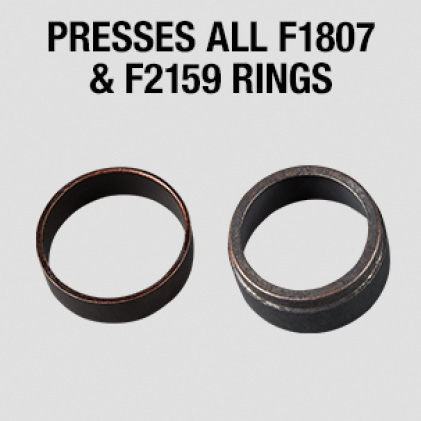 Presses all F1807 and F2159 Rings up to 1""