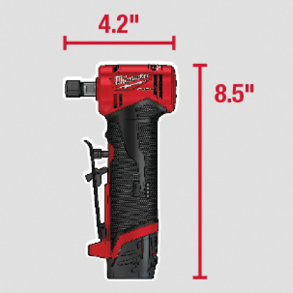 Compact tool size allows access in tight spaces