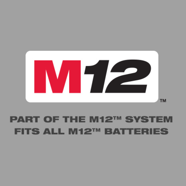 Part of the M12 System - Fits All M12 Batteries