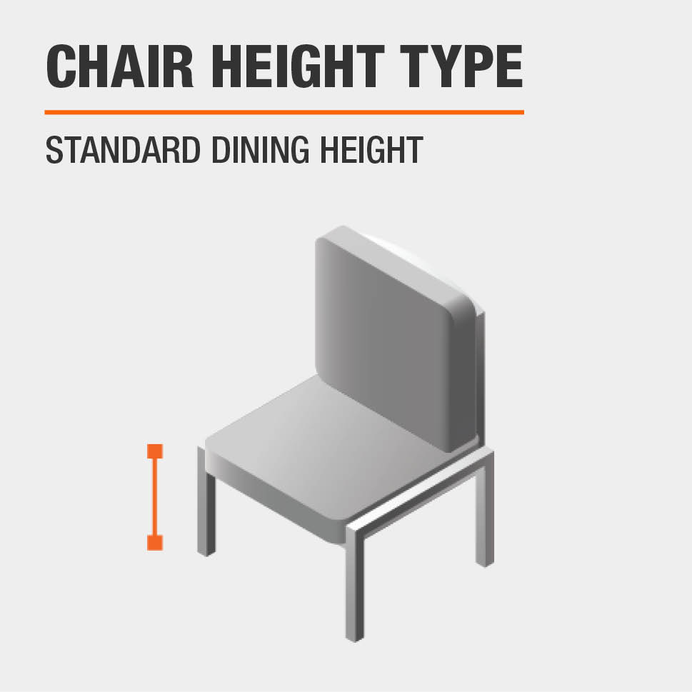 Chair Height Type Standard Dining Height