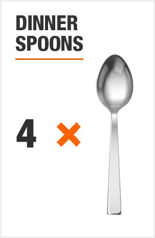 Flatware set includes 8 dinner spoons and 8 teaspoons