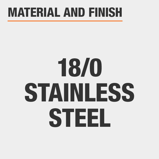 Flatware set made of stainless steel with stainless steel finish