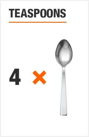Flatware set includes 8 teaspoons