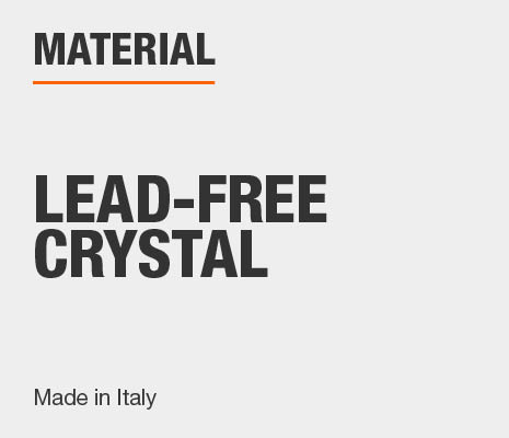 Drinkware set is made in Italy of lead-free crystal