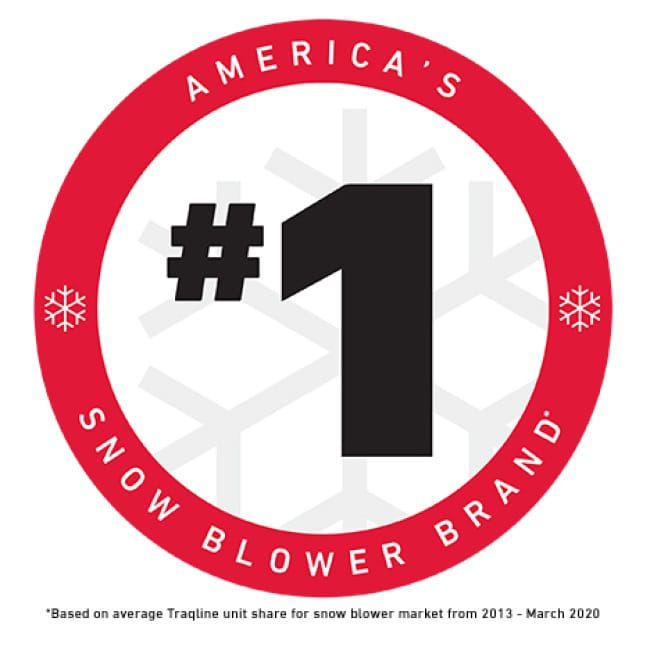 icon stating America's #1 snow blower brand