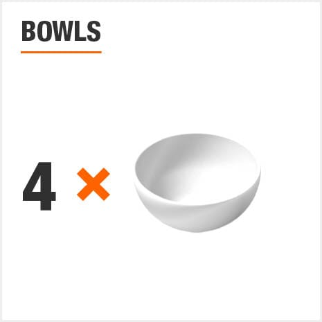 Dinnerware set includes 4 Bowls