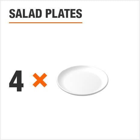 Dinnerware set includes 4 Salad Plates