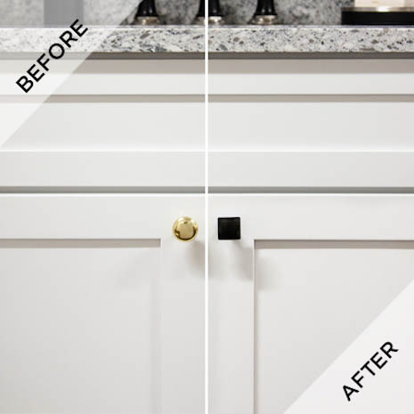 Easy Cabinet Hardware Updates