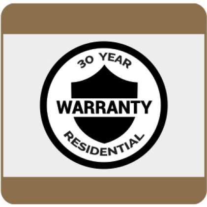 30-Year Residential Warranty details available