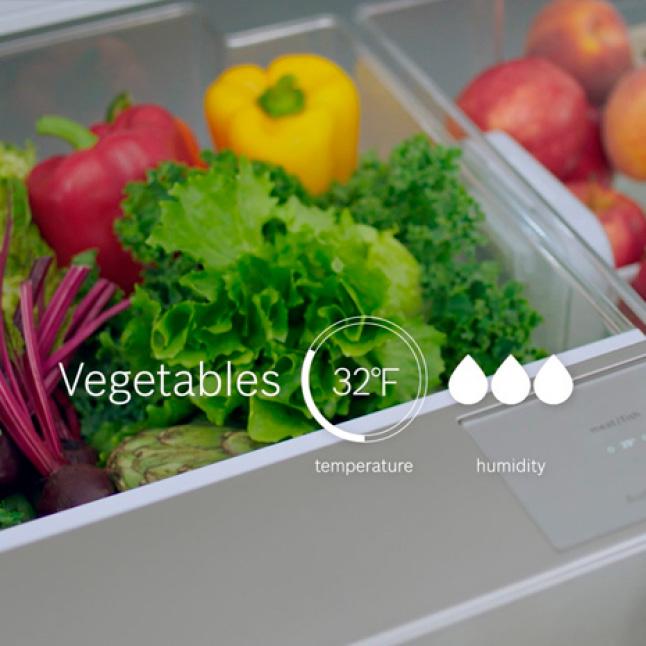 VitaFreshPro balances temperature and humidity