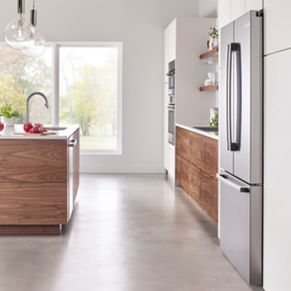Bosch's Counter-Depth Refrigerators Align with Cabinetry