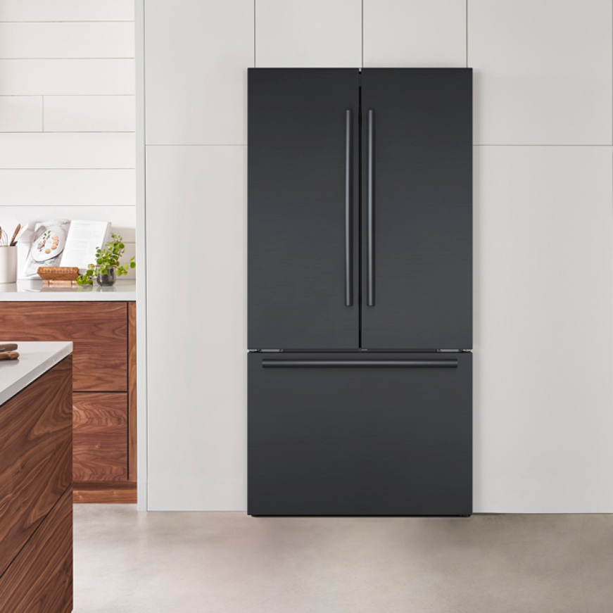 Bosch 3-Door Black Stainless Steel Quality Refrigerator B36CT80SNB